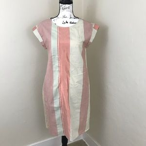 Caslon cap sleeve striped dress with pockets